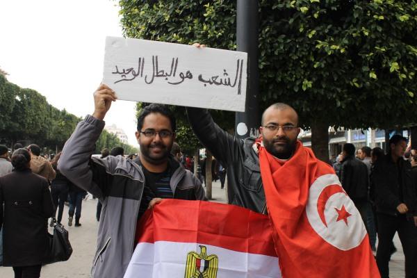 On Bourguiba avenue, 14 January 2012.